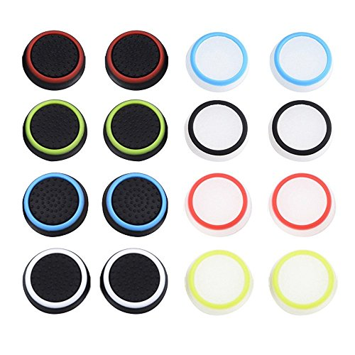 Thumb Grip Thumbstick Noctilucent Sets for PS2, PS3, PS4, Xbox 360, Xbox One Controller Pack of 16pcs