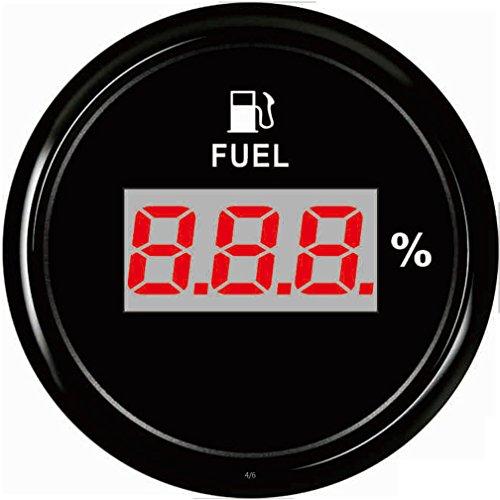 Samdo 52mm Digital Fuel Level Gauge Meter For Boat Car Motorcycle 0-190ohm Signal 12V/24V