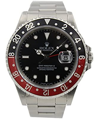 Rolex GMT Master II Automatic-self-Wind Male Watch 16710 (Certified Pre-Owned) by Rolex