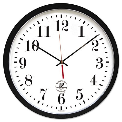 Chicago Lighthouse - Atomic Slimline Contemporary Clock, 16-1/2