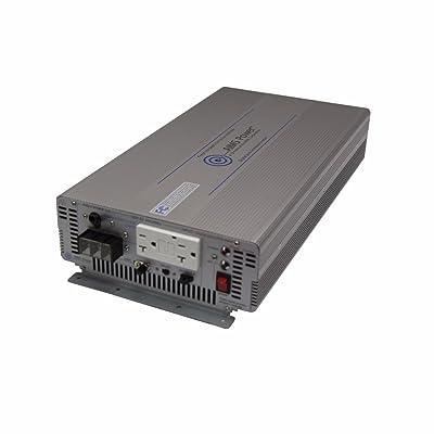 AIMS Power PWRIG200012120S 2000W Pure Sine Inverter, Continuous 4000W Surge Peak Power, 12V DC Input, 60hz or 50hz Switch, 1 GFCI Dual Outlet: Automotive