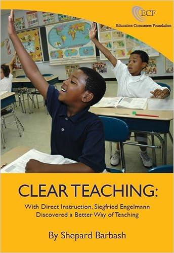 Clear Teaching With Direct Instruction Siegfried Engelmann