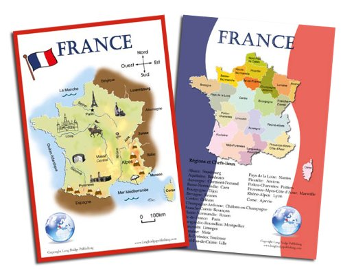 Map Of France In French Language.Amazon Com French Language School Poster Set Large Maps Of France