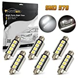 2004 chevy silverado 2500 lights - Partsam 6x Ultra White 42mm Festoon LED Bulbs Error Free 212-2 211 578 Car Interior Light Dome Map Courtesy Lamps 12V