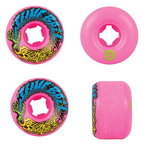 Santa Cruz Old Scool Skateboard Wheels 54mm Vomit Mini 97A Pink
