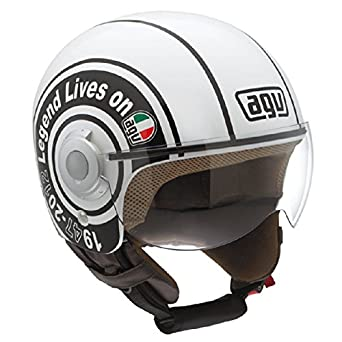 Agv Moto Casco Jet Bali Copter Multi Legend Color Blanco, Talla XS ""