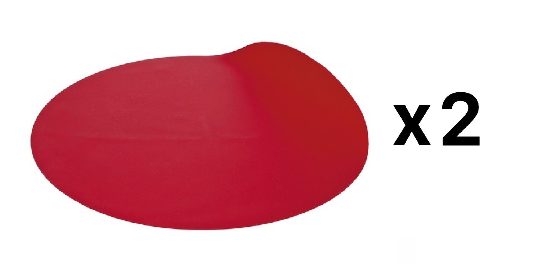 Progressive Red Silicone 12'' Nonstick Microwave Turntable Mat (2-Pack) by Progressive