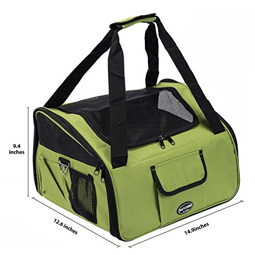Pettom Pet Car Booster Seat Carrier Airline Approved For