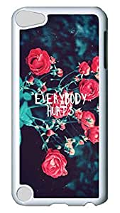Brian114 Case, iPod Touch 5 Case, iPod Touch 5th Case Cover, Everybody Hurts Retro Protective Hard PC Back Case for iPod Touch 5 ( white )