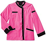 Five Star 18038 Women's LS Executive Chef Coat Shocking Pink Small
