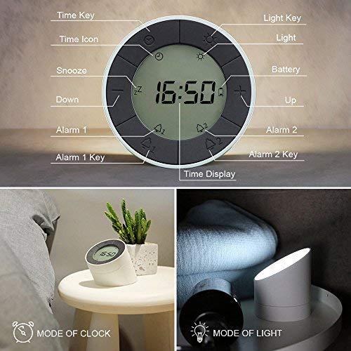 Amazon.com: Mesita de noche lámpara, luz nocturna, Dual ...
