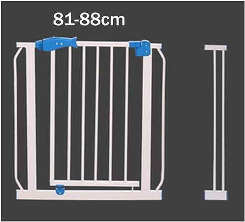 LSRRYD Barrera Extensible Perros Tubo De Acero Barrera Seguridad Niños Barrera De Seguridad para Puertas Pasillos Pie De Escaleras Cocinas (Size : 81-88x72cm): Amazon.es: Hogar