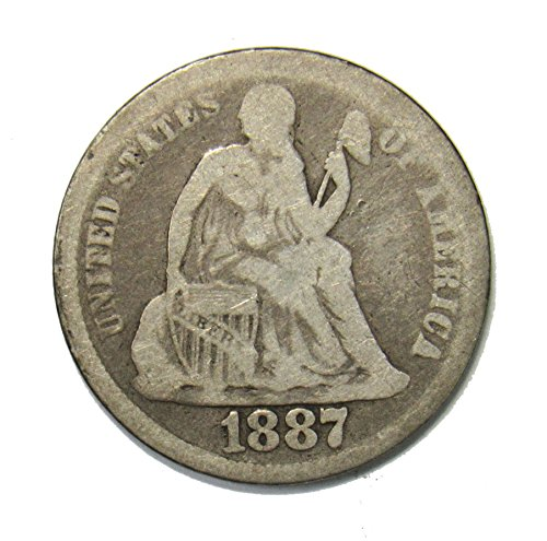 1887 Seated Liberty Dime 10¢ VG