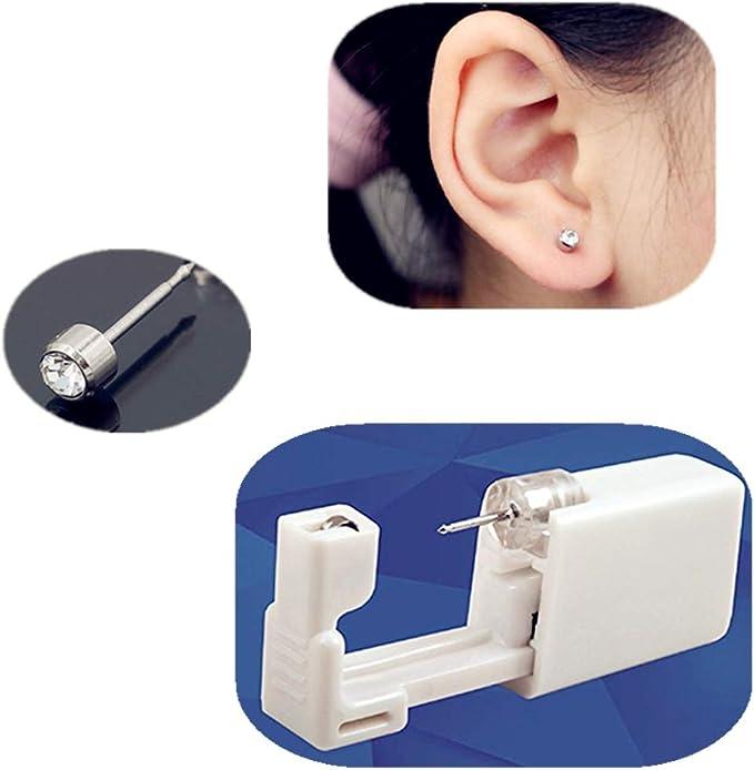 Médicale Boucles d/'oreille jetables Pistolet Oreille Santé Connecteurs Boucle d/'oreille en argent nouveau