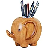 Devis Carving Elephant Pencil Holder Fashion Creative Desk Decoration,Cute Pencil Holder for Office