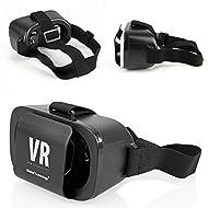 Boîte Lunettes 3D VR universelles Virtual Reality Cardboard universel réalité virtuelle Casque Gaming Vidéo 3D-Brille Smart Schwarz