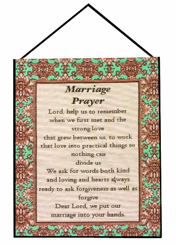 Nuptials Collections (Manual Inspirational Collection Wall Hanging with Frame, Marriage Prayer, 13 X 18-Inch)