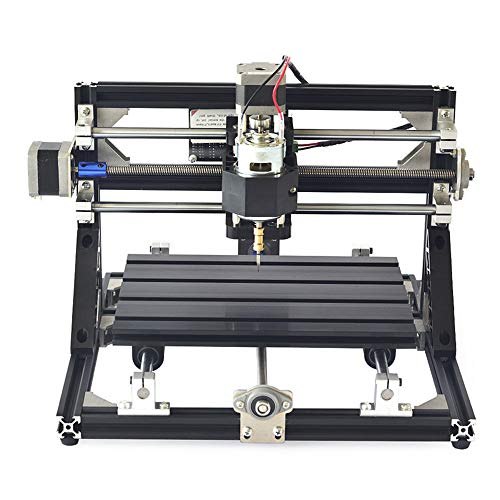 CNC Router Kit, MYSWEETY 3018 GRBL Control 3 Axis Plastic Acrylic PCB PVC Wood Carving Milling Engraving Machine with ER11 and 5mm Extension Rod, XYZ Working Area 300x180x45mm