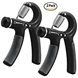 TWO CATS 2 Pack Hand Grip Strengthener Strength Trainer Adjustable Resistance 22 To 88Ibs -Wrist Forearm Strength Training Hand Power Grip Exerciser Gripper Sport Fitness with Non-Slip Handles