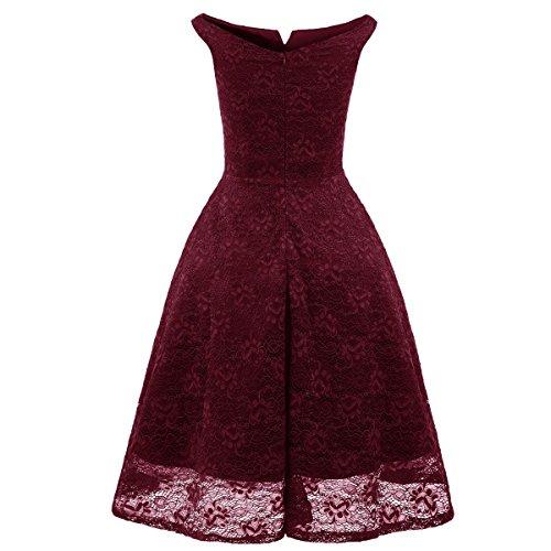 De Mode Robe Hepburn Red Blue Rose Robe Soire Noir Basique Nouvelle paule Lace Audrey Vert Rouge qEwC5ZOxH
