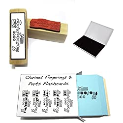 Clarinet Student Gift Pack (Flashcards, Fingering Rubber Stamp & Pad!)