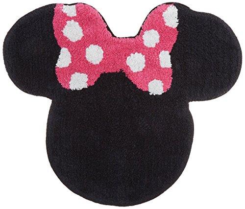 Disney Minnie Mouse XOXO Black/Pink/White Cotton Tufted Bath -