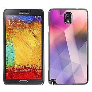 TopCaseStore / la caja del caucho duro de la cubierta de protección de la piel - Pink Soothing Clean Design Colors - Samsung Galaxy Note 3 N9000 N9002 N9005