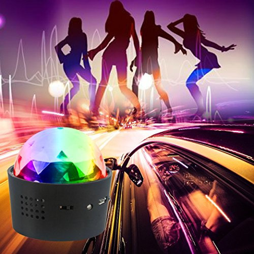 Mini Disco Light, Miuko Sound Activated Multi-color Battery Operated Disco Ball Light, Festival Party Light, Led Stage Light, Car Decoration Light (Portable Battery Powered) by Miuko (Image #3)