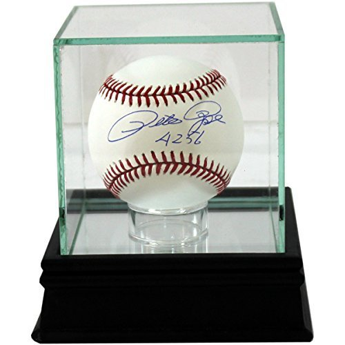 Premium Glass 4 inches x 4 inches Single Baseball Case with Black Base and UV Protection (to prevent fading) by Steiner Sports Memorabilia (Baseball not Included)