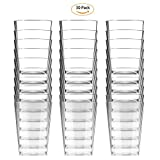 Happy-life Healthy Disposable Cups,Crystal Clear Cups,High Transparent Water Cup,Hot/Cold Beverage Drinking Cup For Water,Juice,Coffee or Tea-Wedding,Party(30 Pack)