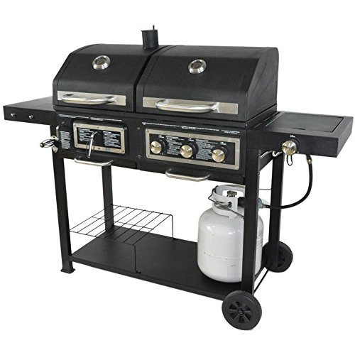 - Dual Fuel Combination Charcoal/Gas Grill