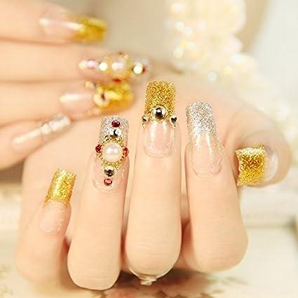 Z236 - Uñas postizas de calidad de salón de uñas, largas, planas, decoración