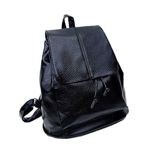 tellw Mujer Niñas Lady Bolsa de ocio viaje Compras Mochila Negro