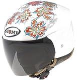 Suomy Jet Light Flower Helmet (White, Large)