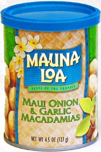 Mauna Loa Maui Onion & Garlic Macadamia Nuts, 4.5-Ounce Can (Pack Of 3) ()