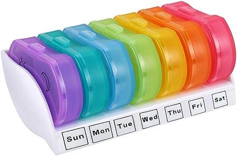 SUPVOX 3 Scomparti Organizzatore di Pillole Contenitore Portapillole Settimanale Pillole Box Dispenser Pillole Supplemento Vitamina per Scuola Ufficio Viaggi