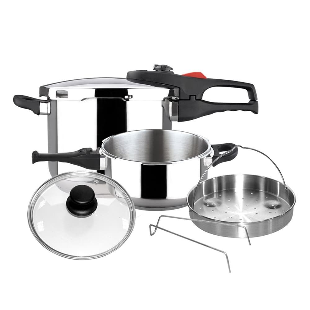 ReadyFast Stainless Steel 6 Piece Super Fast Pressure Cooker Set
