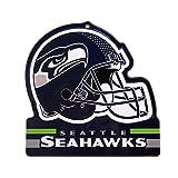 """Party Animal Seattle Seahawks Embossed Metal NFL Helmet Sign, 8"""" x 8"""""""