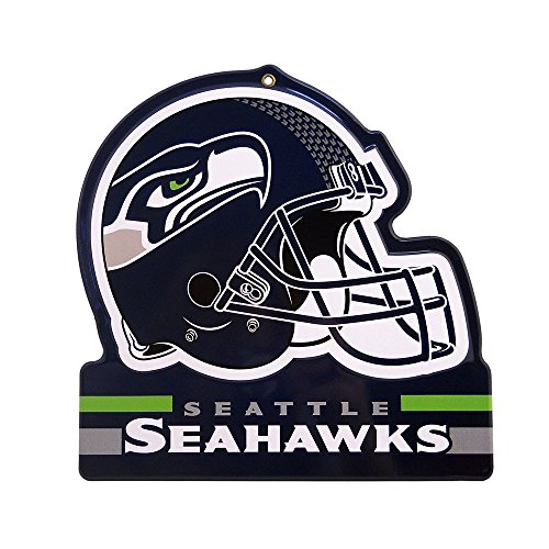 - Party Animal Seattle Seahawks Embossed Metal NFL Helmet Sign, 8