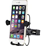 "Universal Bicycle Phone Mount - for Motorcycle - Bike Handlebars, Adjustable, Fits iPhone 6s | 6s Plus, iPhone 7 | 7 Plus, Galaxy S7, S6, S5, Holds Phones from 3"" Wide: for Motorcycles and Bikes"