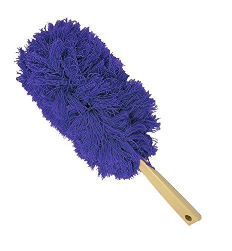 Thick Microfiber Hand Duster, Blue, Suitable for Domestic and Professional Cleaning, Attracts and Holds Dust, Machine Washable Head (Duster Professional)