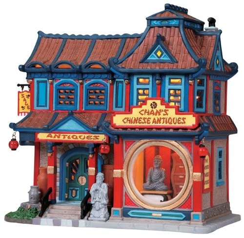 Lemax Caddington Village Chan's Chinese Antiques Lighted Building #85713