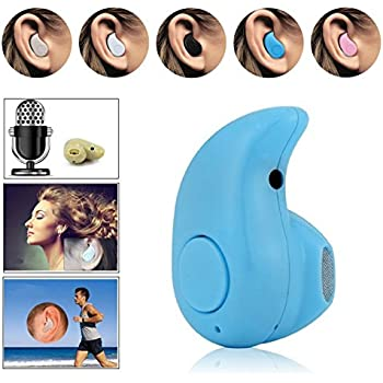 Efanr Sports Invisible in Ear Mini Bluetooth 4.0 Headset Earphone Earbuds Headphones with Hands-free Calling Stereo for iPhone 7 6 Plus 6 5 5S Samsung Galaxy Android IOS Smartphones (Blue)