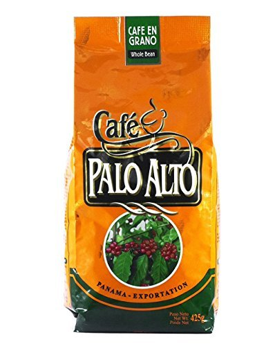 Panama Cafe Palo Alto Whole Roasted Coffee Beans Arabica (425gr.15 Oz) Freshly Imported Great Quality Beans From the Highlands of Chiriqui (Boquete) Best Coffee from Central America