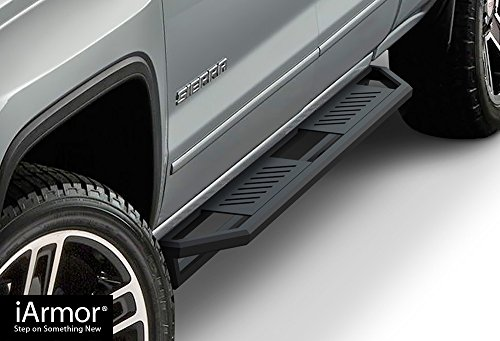 Steps Armor Custom Fit 2007-2019 Chevy Silverado/GMC Sierra 1500/2500/3500 Double Cab/Extended Cab (Excludes 07 Classic Models) (Nerf Bars | Side Steps) ()