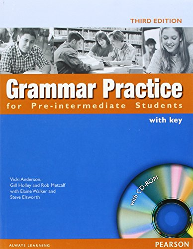 Grammar Practice For Pre-Intermediate Students. With Key por Vvaa