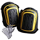Professional Knee Pads For Work Heavy Duty Foam -Includes Double Adjustable Clips - Multi Layered Gel - Improved Cushion - Flooring, Gardening, Construction, Carpeting & Tactical By Grayd