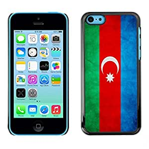 YOYO Slim PC / Aluminium Case Cover Armor Shell Portection //Azerbaijan Grunge Flag //Apple Iphone 5C