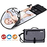 Baby Portable Changing Pad, Diaper Bag,Travel Mat Station,Foldable Waterproof Cushioned Diaper Changing Mat
