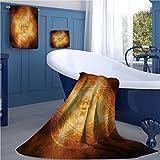 warmfamily Horror House Sports towel set Demon Trap Symbol Logo Ceremony Creepy Scary Ritual Fantasy Paranormal Design handkerchief set Orange